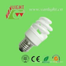 Spirales demi série CFL ampoule économie d'énergie lampe (VLC-FST3-11W)