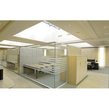partition glass frosted low partition office height
