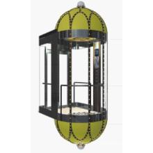 Máquina de ascensor panorámica sin cuarto