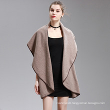 Womens Cashmere Feel Fancy Cape Stole Poncho Shawl (SP298)