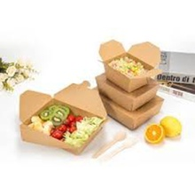 Aangepaste Kraftpapier Disposable Lunch Salad Box