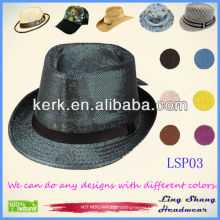 2013 Newest Party Hat,Custom 100% Natural paper straw hat party hat paper party hat ,LSP03
