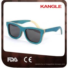 2018 Эко скейтборд деревянные солнцезащитные очки ручной работы деревянные очки вэньчжоу завод