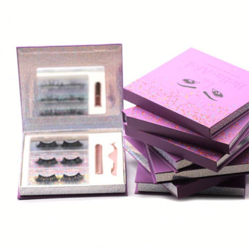 A02H Hitomi Beauty Supply Mink Eyelashes Thin Band Mink Lashes Fluffy 25mm Magnetic Eyelashes with Eyeliner and tweezers