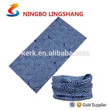 Poliéster outdoor sem costura aquecedor multifuncional bandana tubo