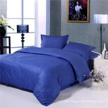Cheap Cotton Stripe Dark Blue Hotel Bedding Collections Sets