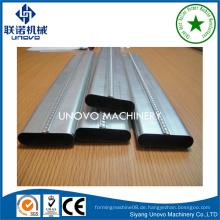 Suqian Stadt Metall selbstverriegeln ovalen Rohr / Rohr Produktionslinie für den Bau