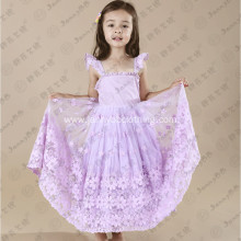 organza fabric sleeveless maxi toddler dress