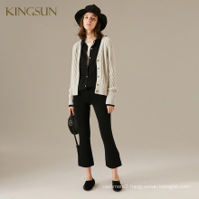 Fantastic Women Knitted Short Coat V Neck Long Sleeve Ladies' Knitted Cardigant from China Factory
