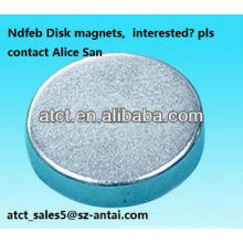 Sintered rare earth Customized Disk magnet/ndfeb magnet