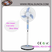AC DC Dupla função ventilador recarregável 16inch com lâmpada LED (RS12V16B)