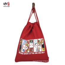Various pattern custom cotton backpack bag