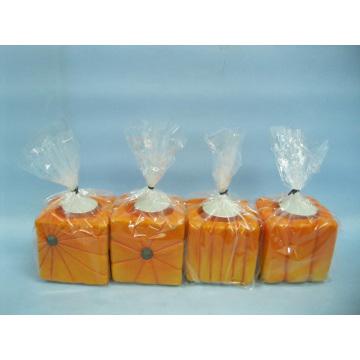 Pumpkin Candlestick Shape Ceramic Crafts (LOE2366-C7z)