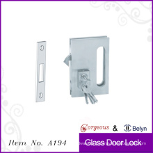 С ключом раздвижной стеклянный дверной замок одиночный