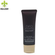 shampooing en gros tube ovale cosmétiques contenants avec capuchon d'or