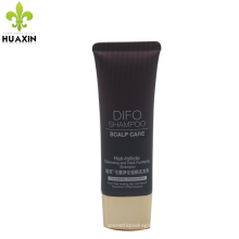wholesale shampoo tube oval cosmetics containers with golden cap
