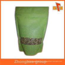 Rice paper stand up saco embalagem para alimentos personalizados impresso arroz bolsas
