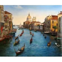Leinwand Kunst Venedig Italien Ölgemälde (EVN-055)