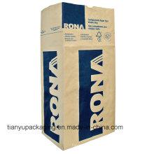 Bolsa de papel Kraft de fondo cuadrado