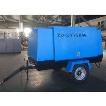 75KW  Electric Movable Screw Air Compressor