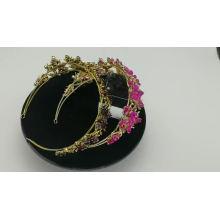 wholesale Accesorios para mujeres Hecho a mano Luxvry Crystal Pearl Bridal Hairbands Silver Shiny Wedding accesorios para el cabello mujeres nupciales