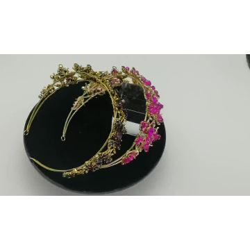 Großhandel Damenaccessoires Handmade Luxvry Crystal Pearl Braut Haarbänder Silber Glänzend Hochzeit Haarschmuck Frauen Braut