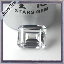 Baixo Preço Especial Octagon Esmeralda Cut White Cubic Zirconia para Jóias Ajuste