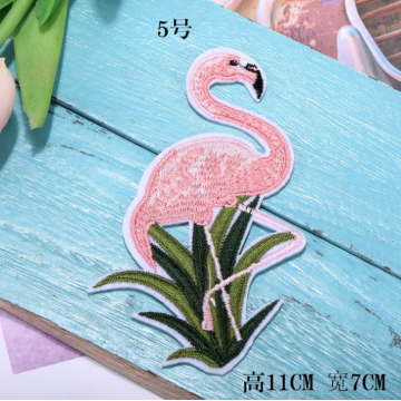 Feature Flamingos Vögel DIY benutzerdefinierte Stickflecken