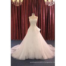 Без бретелек бисером Вечерние платья свадебные платья для свадьбы