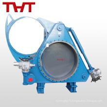 Vanne électrique de valve de rideau aveugle pour le gaz de haut fourneau