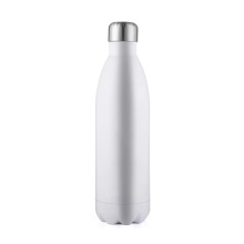 750 Ml Cola Design Stainless Steel White Water Bottle Cup Tumbler