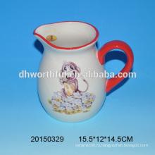 Горячая продажа керамическая кружка молока с обезьяной дизайн для кухни