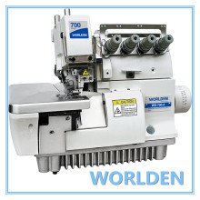 WD-700-4 h alta velocidade Overlock máquina de costura Industrial para serviços pesados