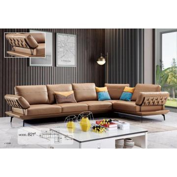 Leather Art Sofa Set For Livingroom