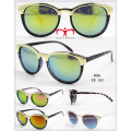 Fashionable and Hot Selling Plastic Sunglasses with Metal Decoration (WSP601534)