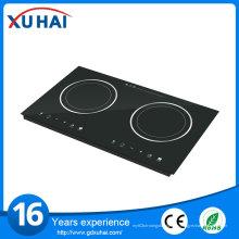 Champion Inicio Chinese Built-in 2 quemadores de alta calidad Hotpot cocina de inducción