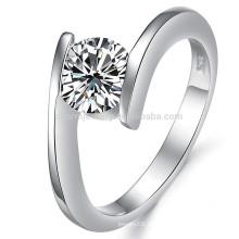 Anillo de diamante al por mayor 18K, oro blanco 18k para las muchachas / joyería dj908 de las mujeres