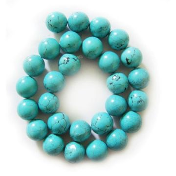 14MM Turquoise Round Beads