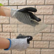 Gants de fibre de couverture de nitrate de Sandy Nitrile Gant de protection de sécurité