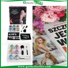 conjunto do tatuagem 2015 getbetterlife kit de tatuagem novas tatuagens temporárias na moda de Glitter Kit/brilho/brilho