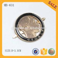 MB631 Custom Metall Bekleidung Hang Tags Metall gravierte Logo Label Tag für Handtasche