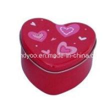 Duftende Soja-rote Herz-Tee-Kerze in der Dose