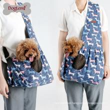 Dog Pet Sling Bag Carrier Polka Dots Mesh Pet Shoulder Bag