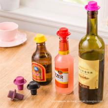 Tapones de botellas de vino personalizados de caucho personalizado para sellado