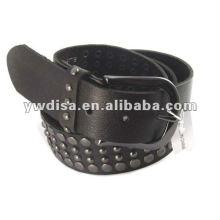 Accesorios de metal Cinturón de cuero genuino Cinturón de cuero negro