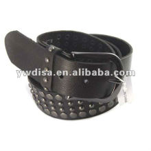 Acessórios de metal Cinto de couro genuíno Cinto de couro preto