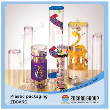 Caixa de embalagem dobrável de tubo de papel plástico transparente