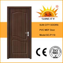 China Interior Room MDF PVC Doors, Bedroom Doors (SC-P119)