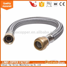 LBA40 galvanized metal stainless steel flexible /hydraulic flexible hose/toilet flexible hose  galvanized metal stainless steel flexible /hydraulic flexible hose/toilet flexible hose