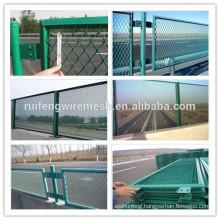 Green PVC Coated Mesh Panel Anti-Dazzle Network